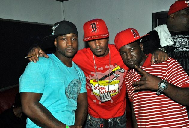 Cam'Ron, Hell Rell, Freekey Zeekey at video shoot