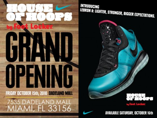 "Lebron VIII, ""Pre-Heat"" Nike Air Max Lebron VIII, House Of Hoops Miami,"