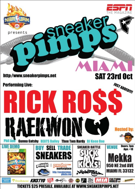 Rick Ross Live, sneaker Pimps Miami, 8&9 Clothing