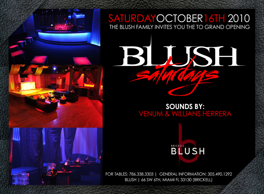 Blush Saturdays, Party at Blush downtown Miami, 8&9 Party