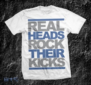 Flint 13 T Shirt, Shirt to match Jordan Flint XIII, French Blue, Real Heads Rock Their Kicks