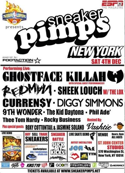 Sneaker Pimps NYC, December sneaker show, sneaker pimps tour 2010, Curren$ concert, Redman show, Va$htie