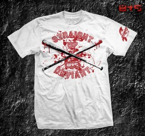 Bloody Baseball bats, shirt