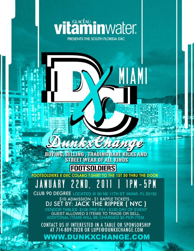 Dunkxchange show, sneaker event, Miami DXC