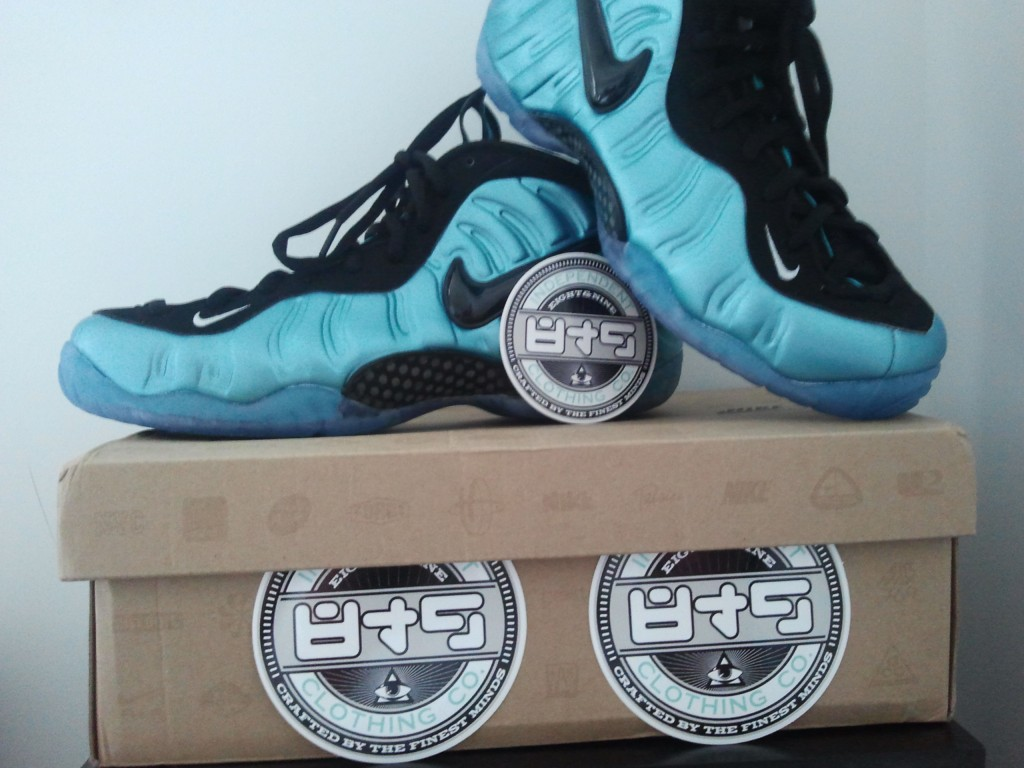South beach nike air foamposite pro aqua