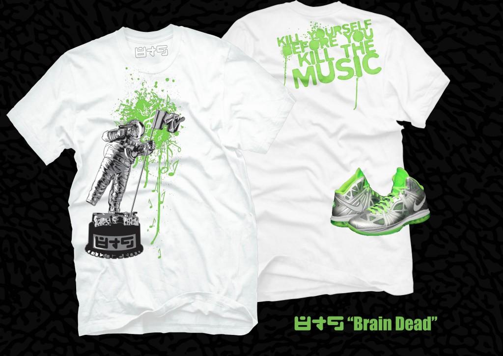 New Release Brain Dead Neon Green T Shirt Lebron 8 Ps Dunkman 8 9