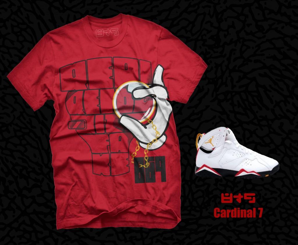 Jordan Cardinal 7 shirt