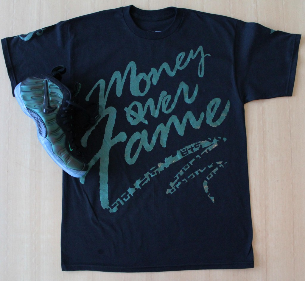 MOF Dark Pine Green Foamposite pro shirt