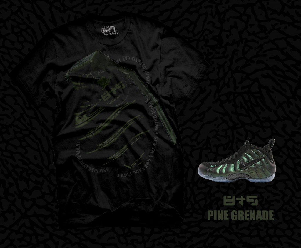 Shirt to match dark pine nike air foamposite pro