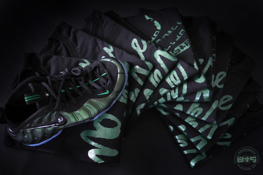 t shirt to match dark pine green foamposite pro
