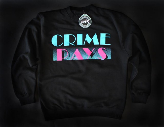 09a9f50ee267 The post Crime Pays Crew: Black/South Beach appeared first on 8&9 Clothing  Co.