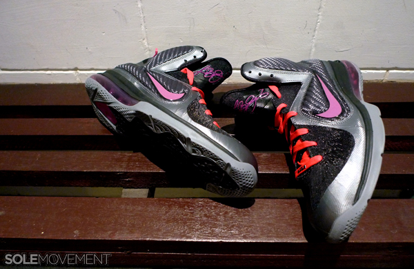 buy popular 3e878 9695b Nike LeBron 9. Cool Grey Vivid Grey-Black-Cherry 469764-002. November 4th,  2011