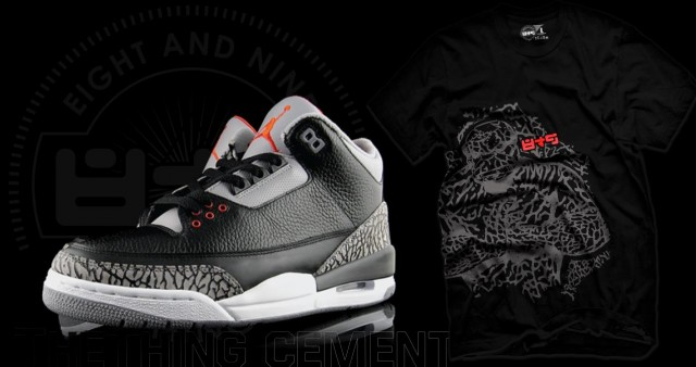 8a344c3a421f Next week the Black Air Jordan Cement 3 will release. On Sunday we ll drop  a new t shirt to match the Cement 3 s. THING elephant print graphic ...