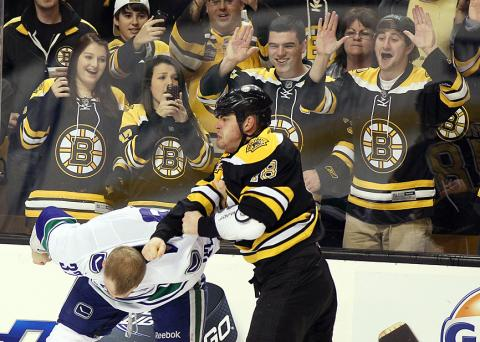 new product bb1a5 e778a Hockey Fights: Boston Bruins Nathan Horton vs Dale Weise ...