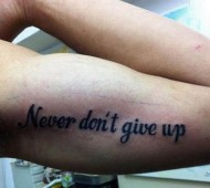 never dont give up