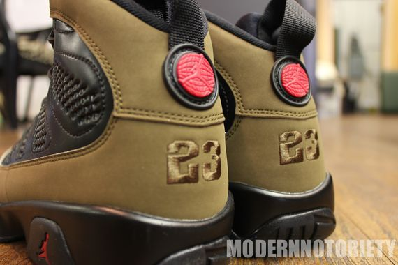 "big sale 8015a 6606f Air Jordan 9 Retro ""Olive"" Release– Detailed Images 