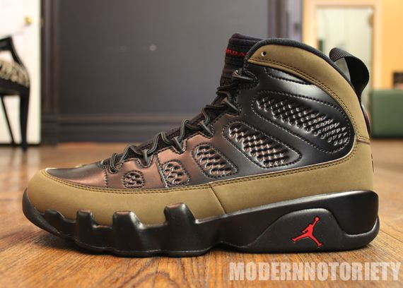 "big sale 0654f 85407 Air Jordan 9 Retro ""Olive"" Release– Detailed Images 