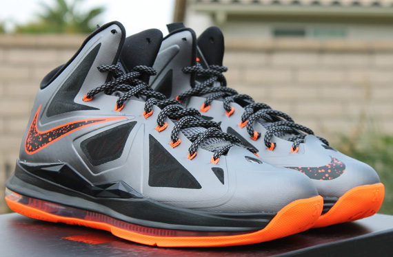 9e7896faf6827 Nike LeBron X Charcoal Total Orange-Black 541100-002 12 08 12  180. Nike ...