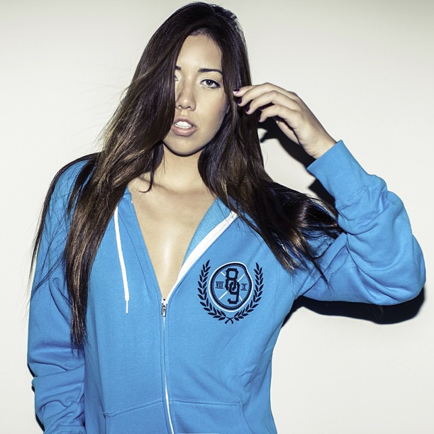 Trenches Turquoise Hooded Zip Up Sweatshirt