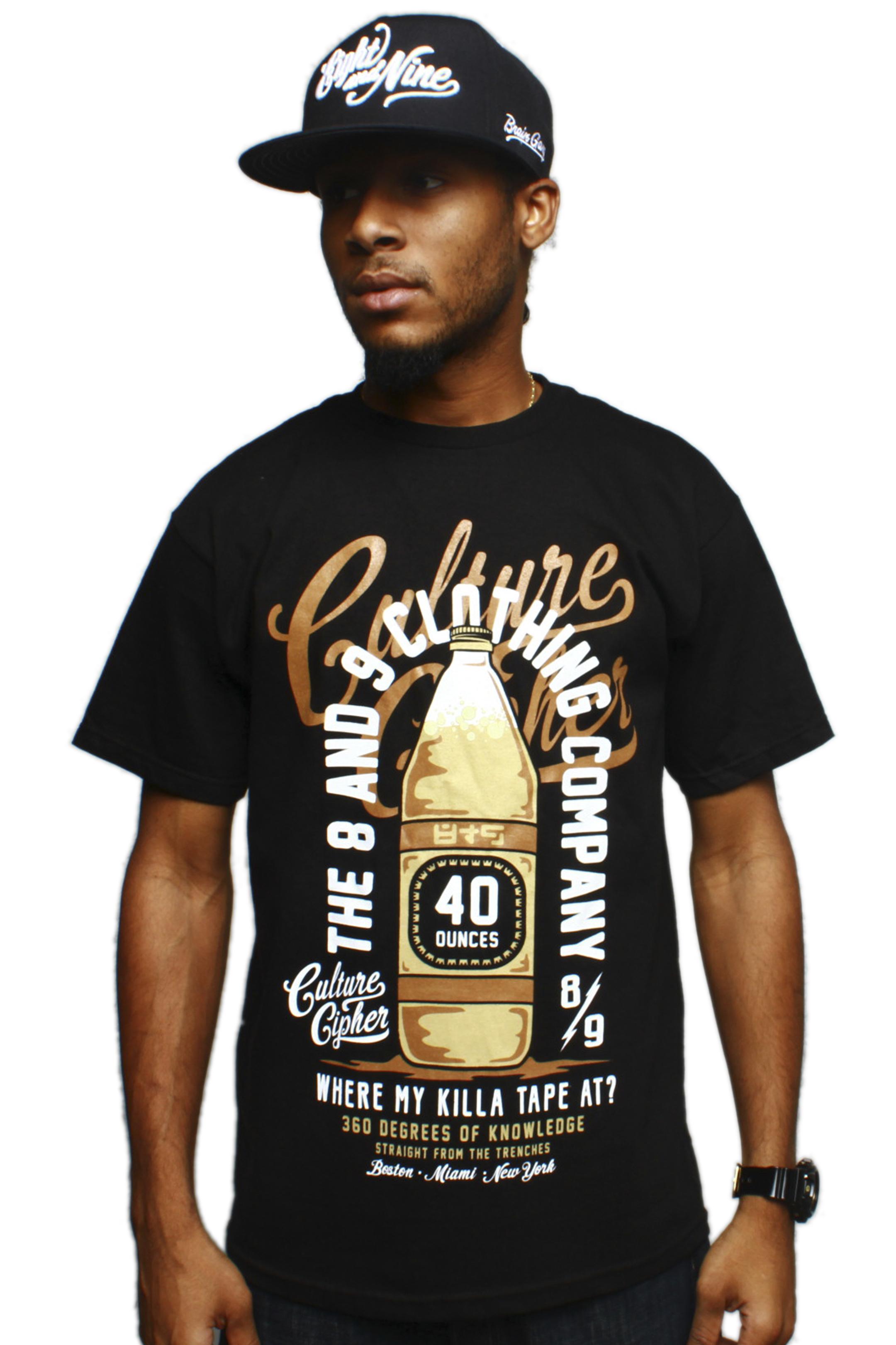 40 oz Culture Cipher T Shirt