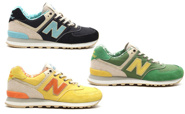 New balance 574-Floral-Hemp-Pack