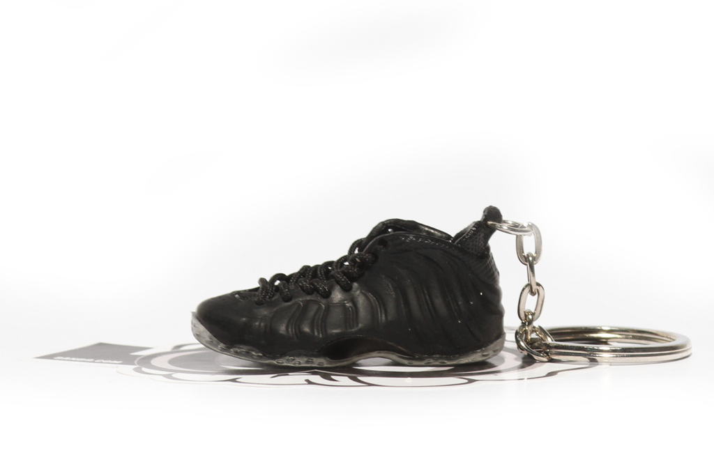black stealth foamposite keychain
