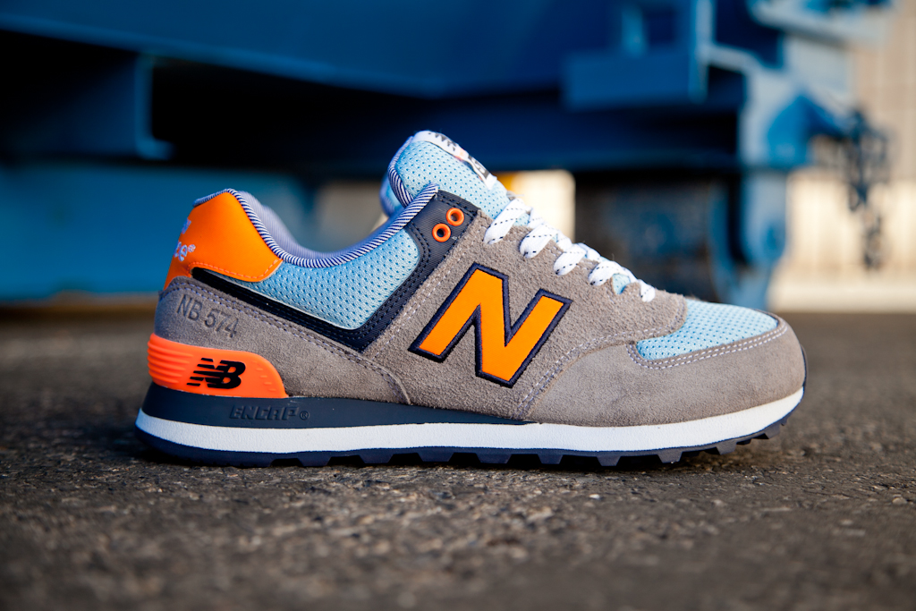 "best service 91465 97ac2 New Balance 574 ""Yacht Club"" Pack – Grey / Orange – Blue ..."