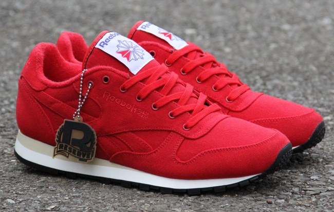 all red reebok classics