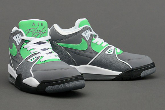 sneakers for cheap 7ca40 cd7c9 Nike Air Flight 89 – Cool Grey   Poison Green