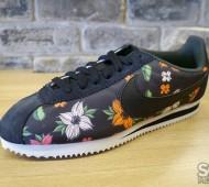 nike cortez with flowers