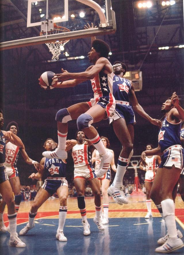 Nets 73-74 Home Julius Erving, Stars Gerald Govan