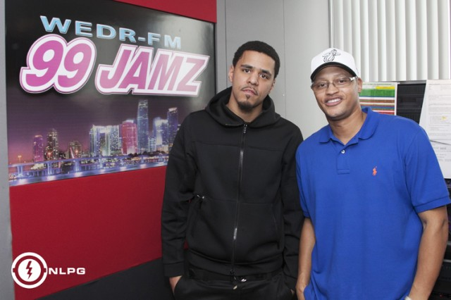 J Cole at WEDR 99 Jamz