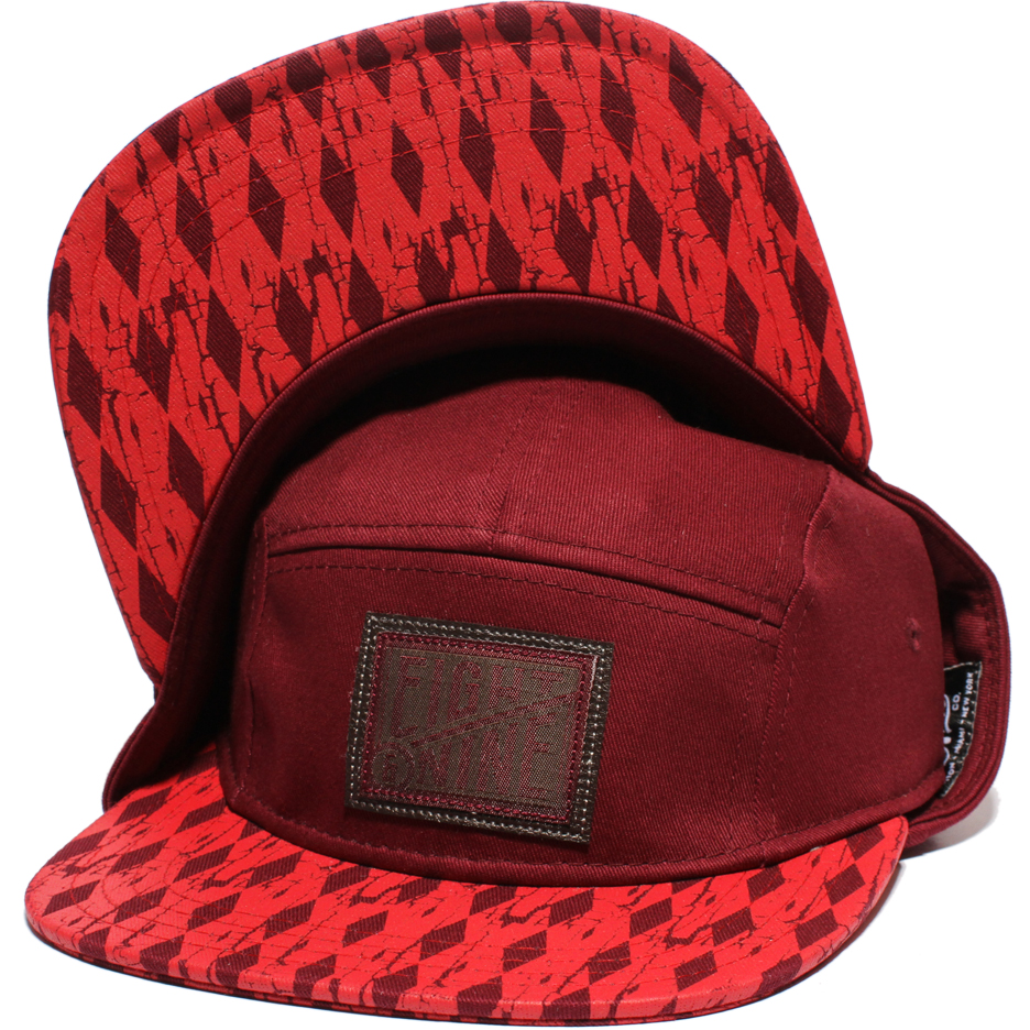 5panel maroon double