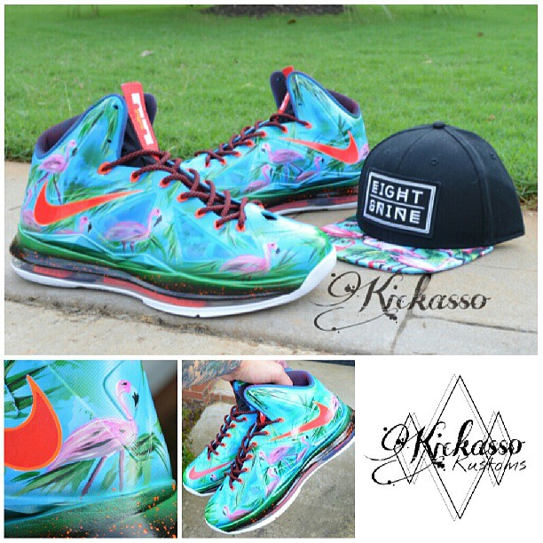 custom flamingo Lebron 10