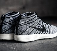 Baratos Nike Flyknit Fondo Chukker Blanco Y Negro yNiQD