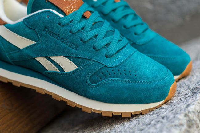 """82597d36befd In Stores Now  Reebok Classic Leather """" Teal Gem"""""""