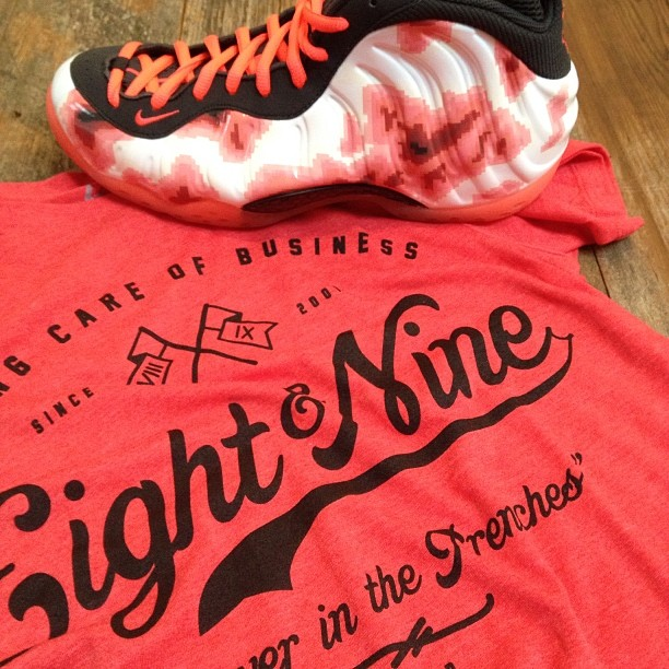 shirts that match nike foamposites