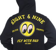 Red Eyes Zip Up Hooded Sweatshirt