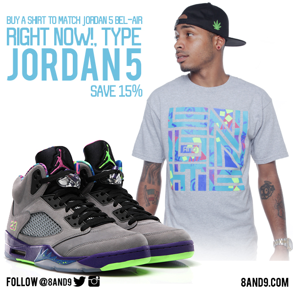 a00f1db7052 Jordan 5 Bel Air shirt | 8&9 Clothing Co.