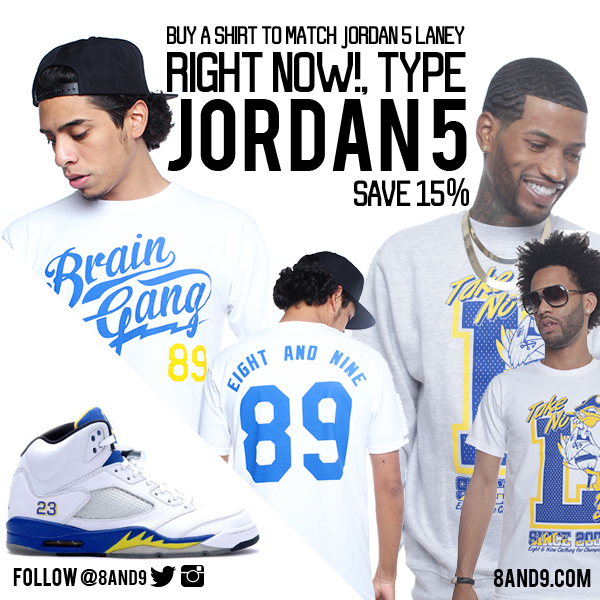 jordan laney 5 shirts