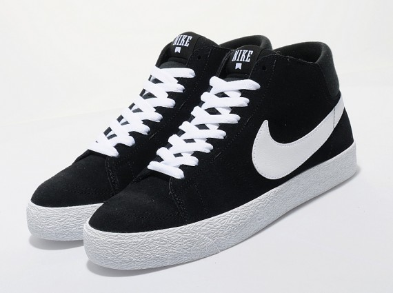 new style d6451 7c0a3 In Stores Now  Nike SB Blazer Mid LR – Black   White