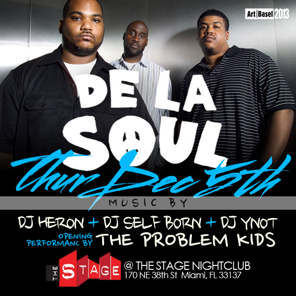 Dec. 5th De La Soul Live At The Stage For Art Basel Weekend