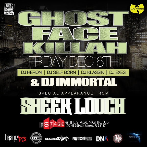 Dec. 6th Ghostface Killah Live At The Stage Art Basel Weekend