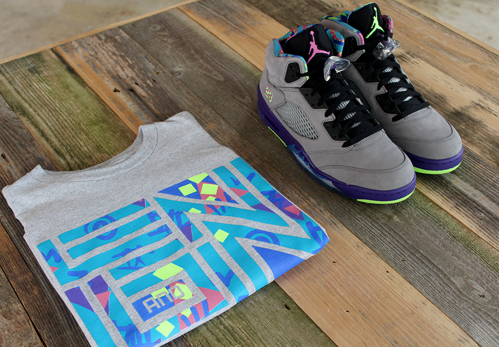 Jordan Bel Air 5 Geometric T Shirt