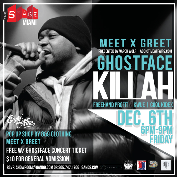 Meet x Greet W/ Ghostface Killah At The Stage Miami Art Basel