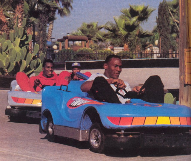michael jordan driving a go-kart when younger - jordan 18