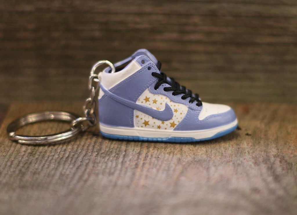 Nike Supreme Dunk High Carolina Sneaker Keychain