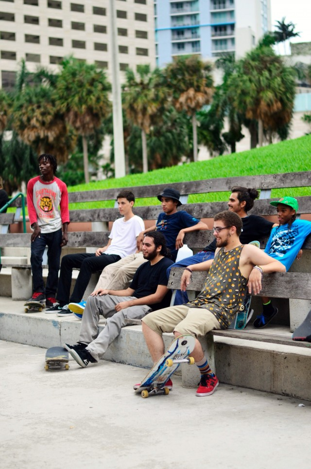 8and9 Skate Team Tears Up Downtown  Miami
