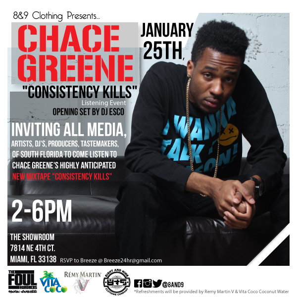 "01.25.14 Miami Artist Chace Greene ""Consistency Kills"" Listening Event"