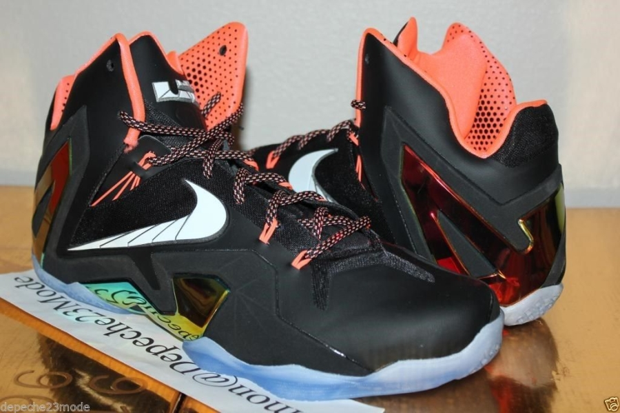 a6b81b74057 Nike LeBron 11 Elite – Black – Mango